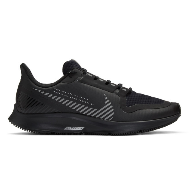 Photo: Nike Black Air Zoom Pegasus 36 Shield Sneakers