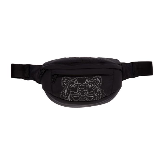 Photo: Kenzo Black Kampus Tiger Bum Bag