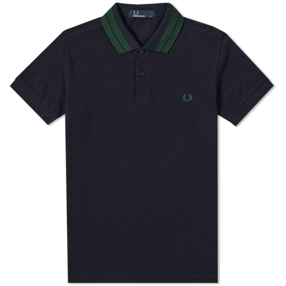 Photo: Fred Perry Bold Tipped Pique Polo Navy