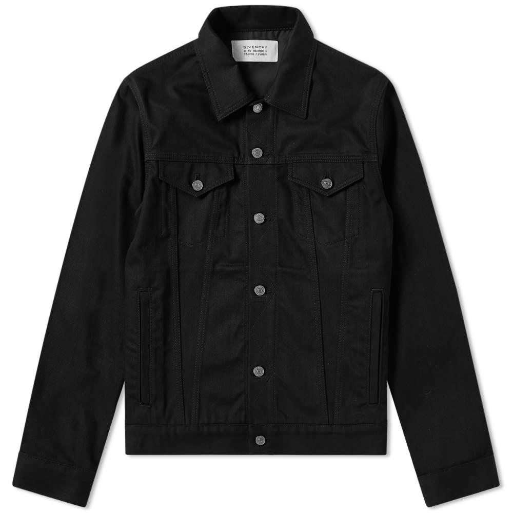 Photo: Givenchy Logo Tape Denim Jacket Black