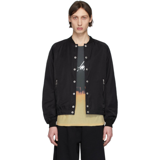 Photo: Balmain Black Logo Tape Bomber Jacket