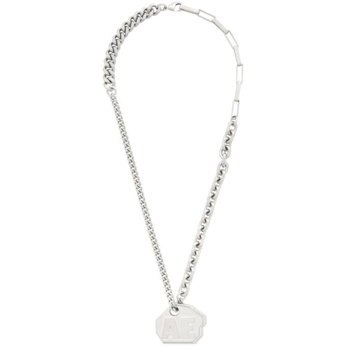 Photo: ADER error Silver Logo Necklace