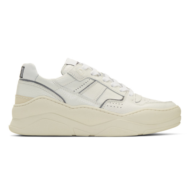 Photo: AMI Alexandre Mattiussi White Thick Sole Sneakers