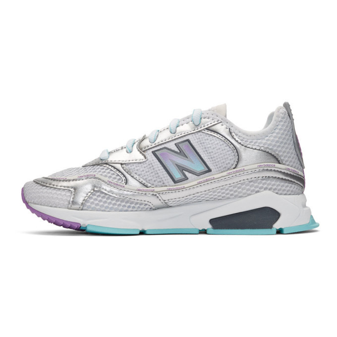 New Balance Silver X-Racer Sneakers