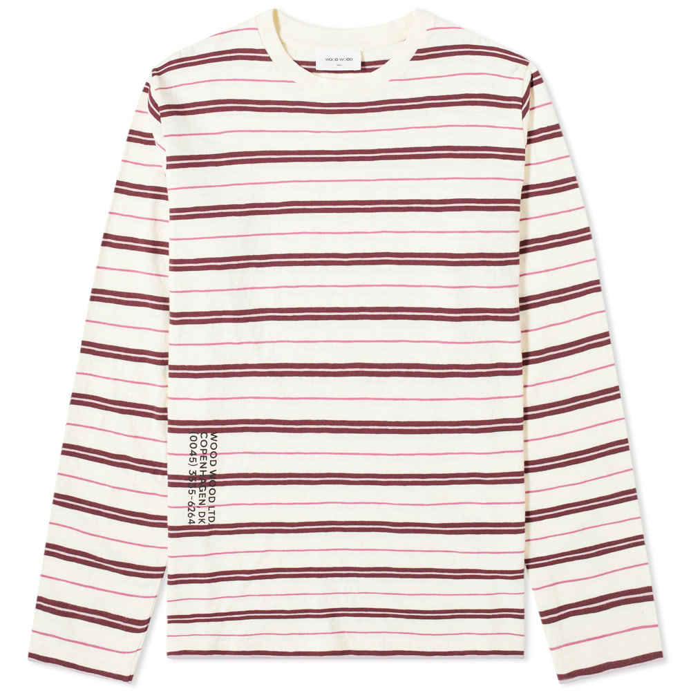 Photo: Wood Wood Long Sleeve Peter Striped Tee