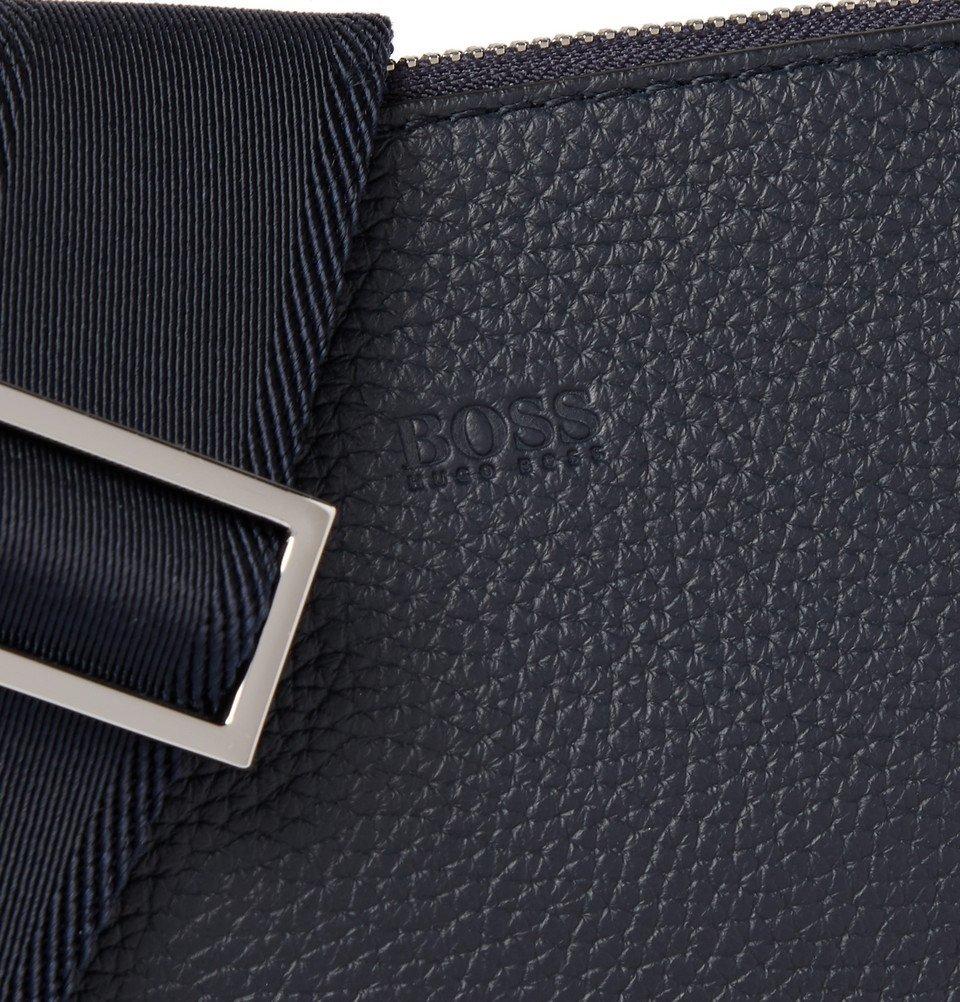 8f230a15a6 Hugo Boss - Full-Grain Leather Messenger Bag - Navy Hugo Boss