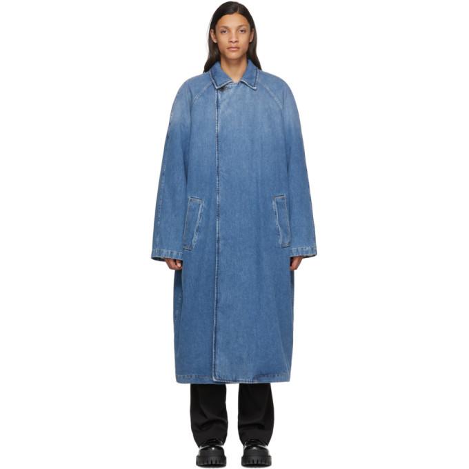 Photo: Balenciaga Indigo Denim Big Fit Car Coat