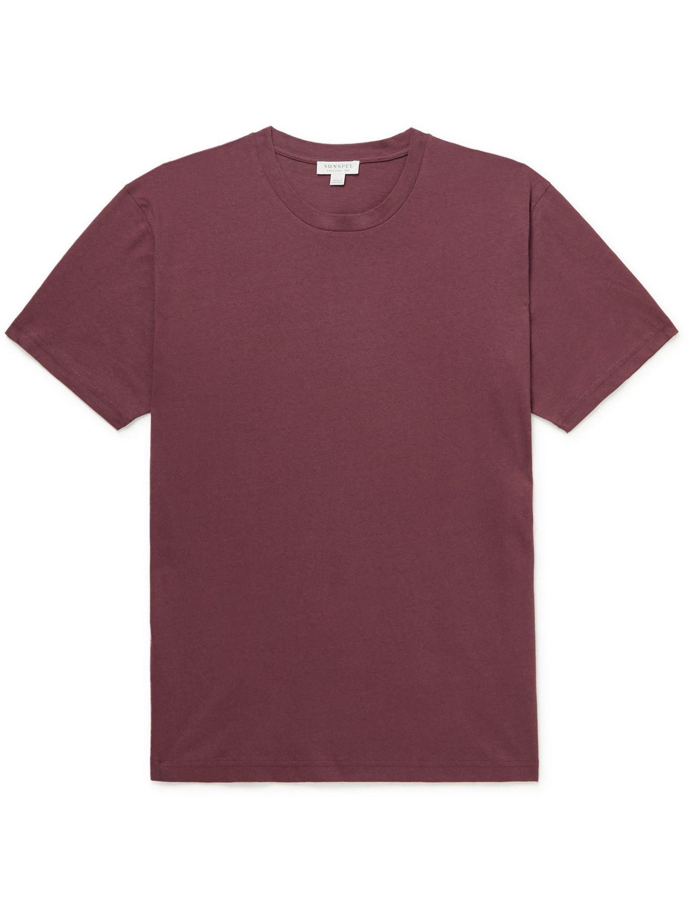 Photo: SUNSPEL - Riviera Cotton-Jersey T-Shirt - Red