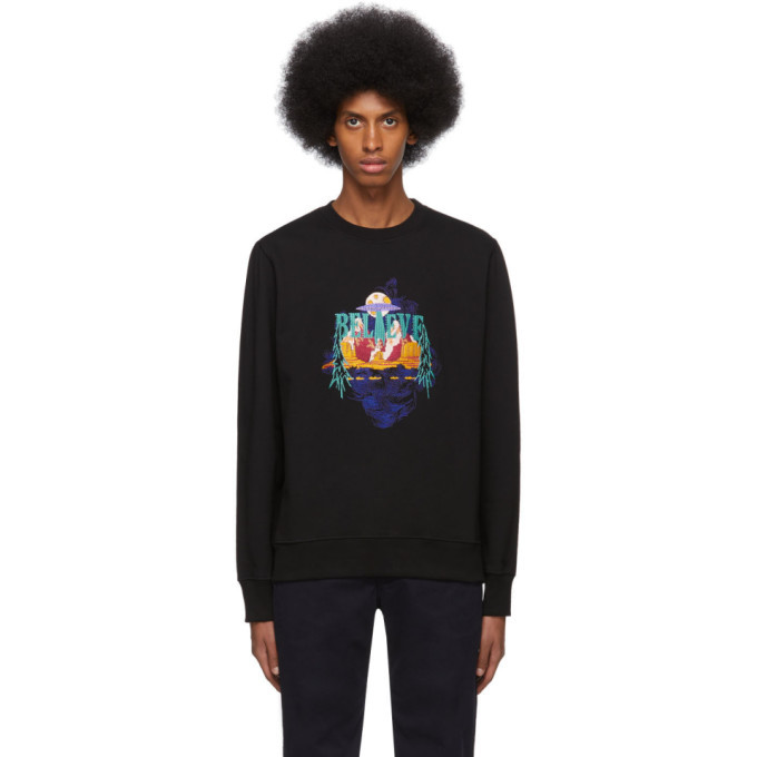 Photo: PS by Paul Smith Black UFO Believe Sweatshirt