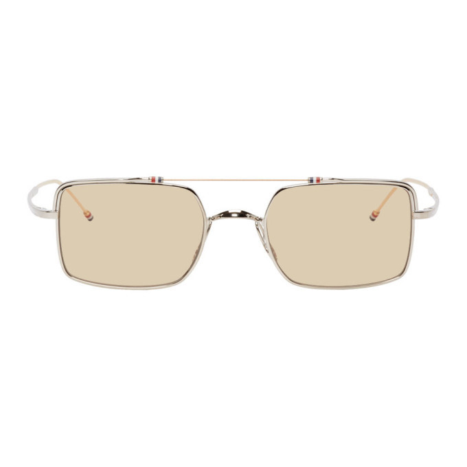 Photo: Thom Browne Silver and White Gold TB-909 Sunglasses