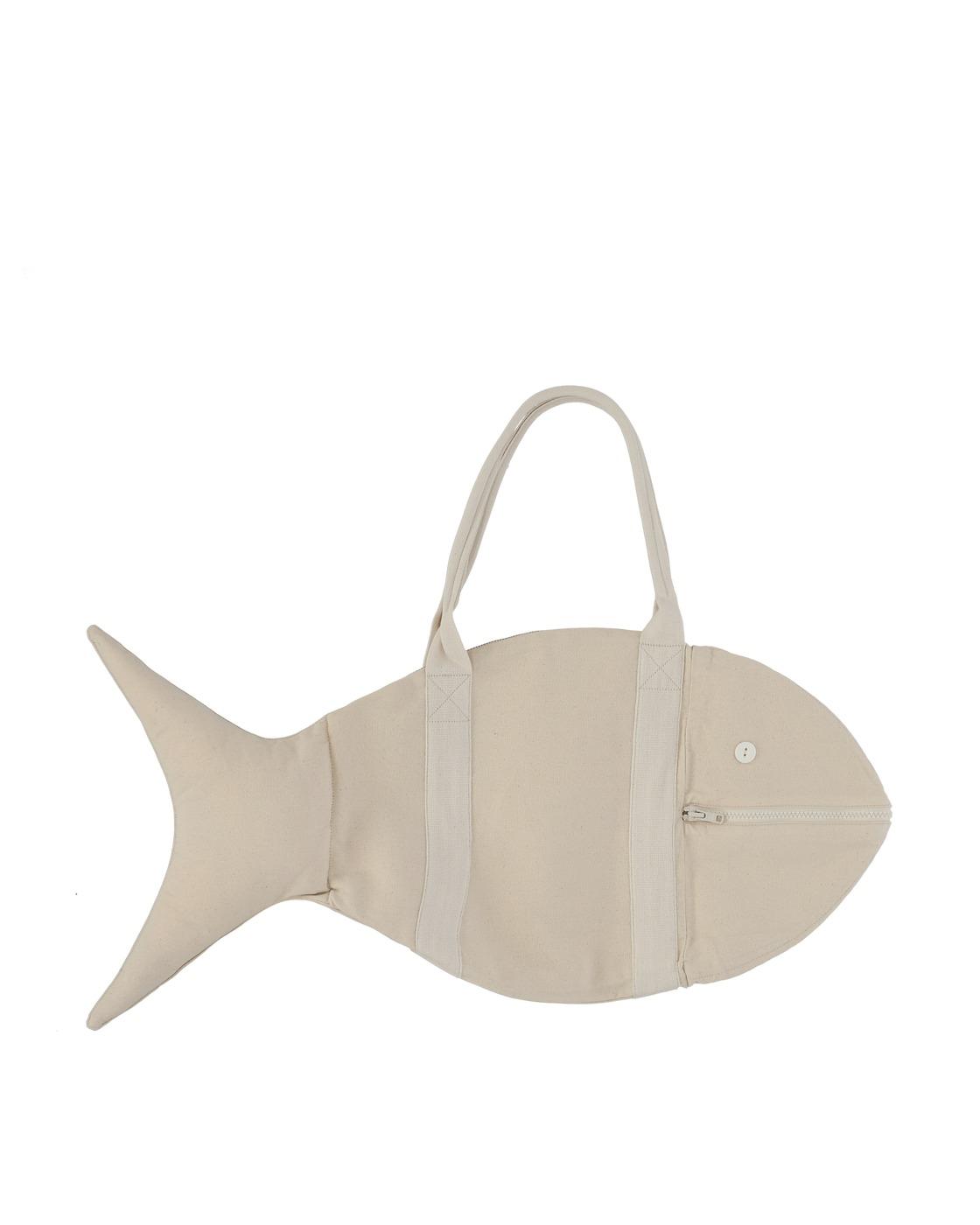 Photo: Bode Canvas Fish Bag Ecru