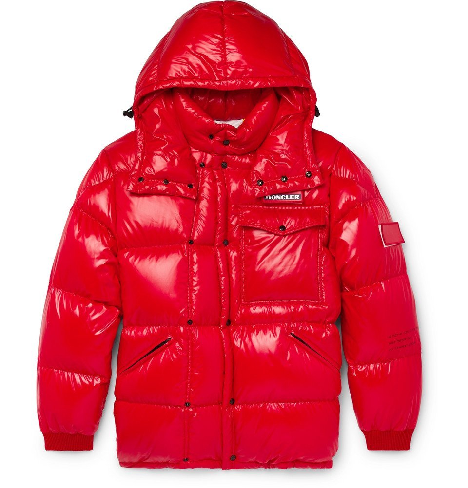 Photo: Moncler Genius - 7 Moncler Fragment Anthem Quilted Shell Hooded Down Jacket - Red