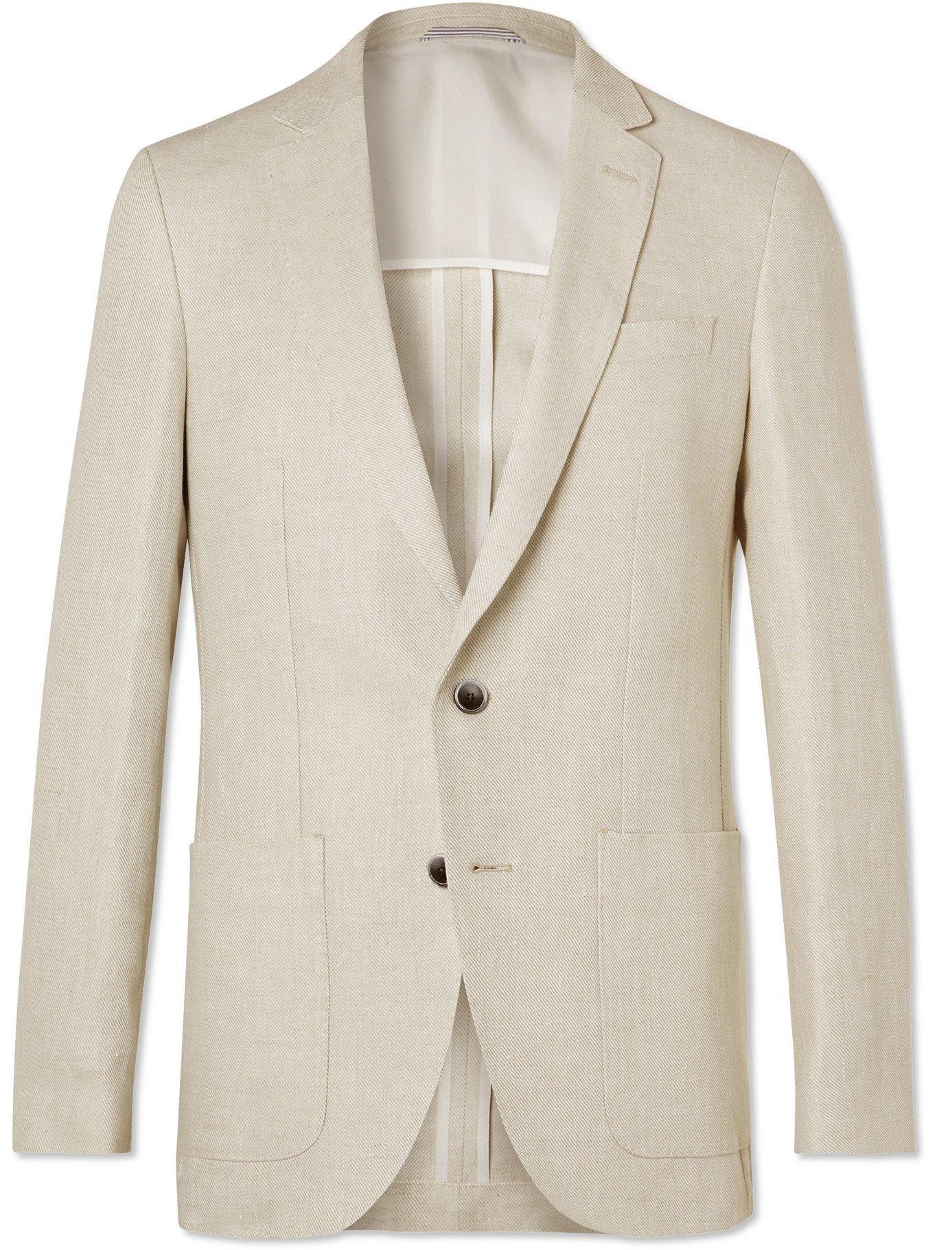HUGO BOSS - Slim-Fit Linen Blazer - Neutrals