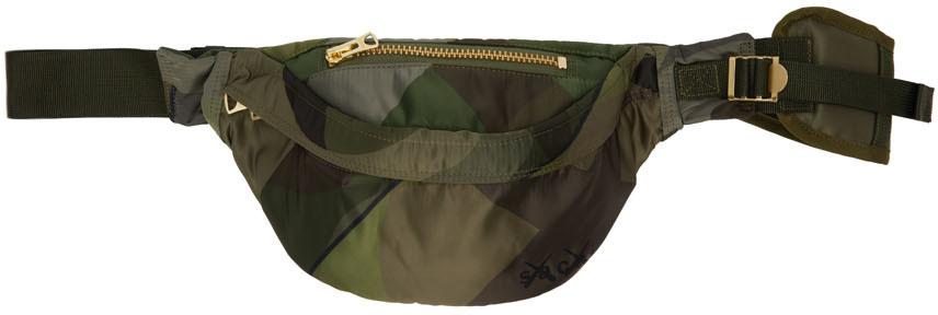 Photo: Sacai Green KAWS Edition Camo Bum Bag