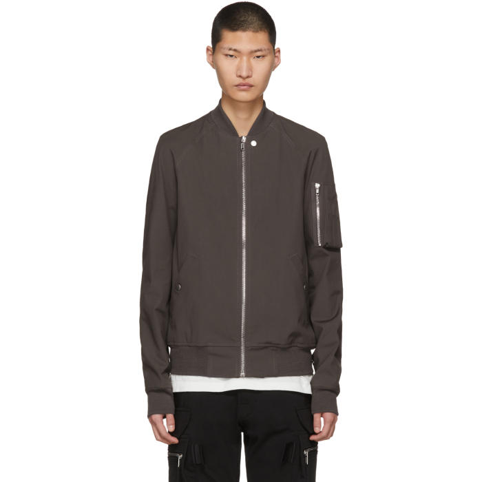 Photo: Rick Owens Grey Raglan Bomber Jacket