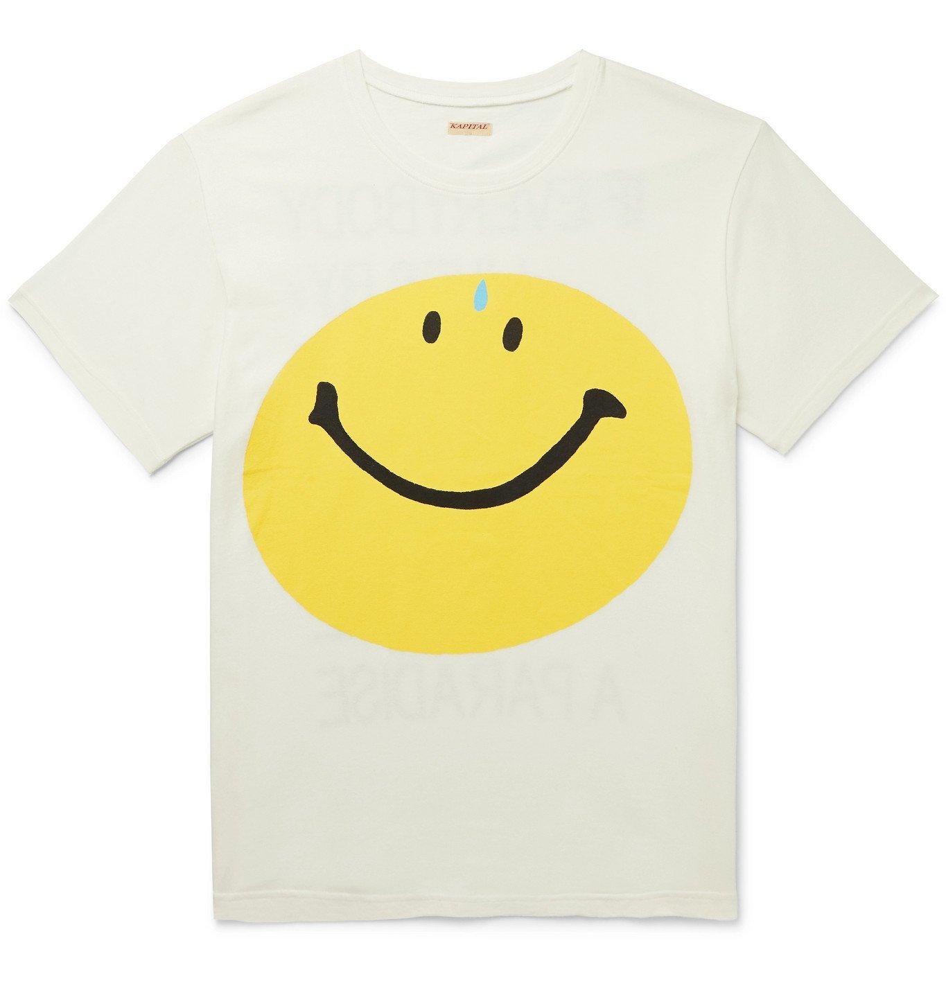 Photo: KAPITAL - Printed Cotton-Jersey T-Shirt - White
