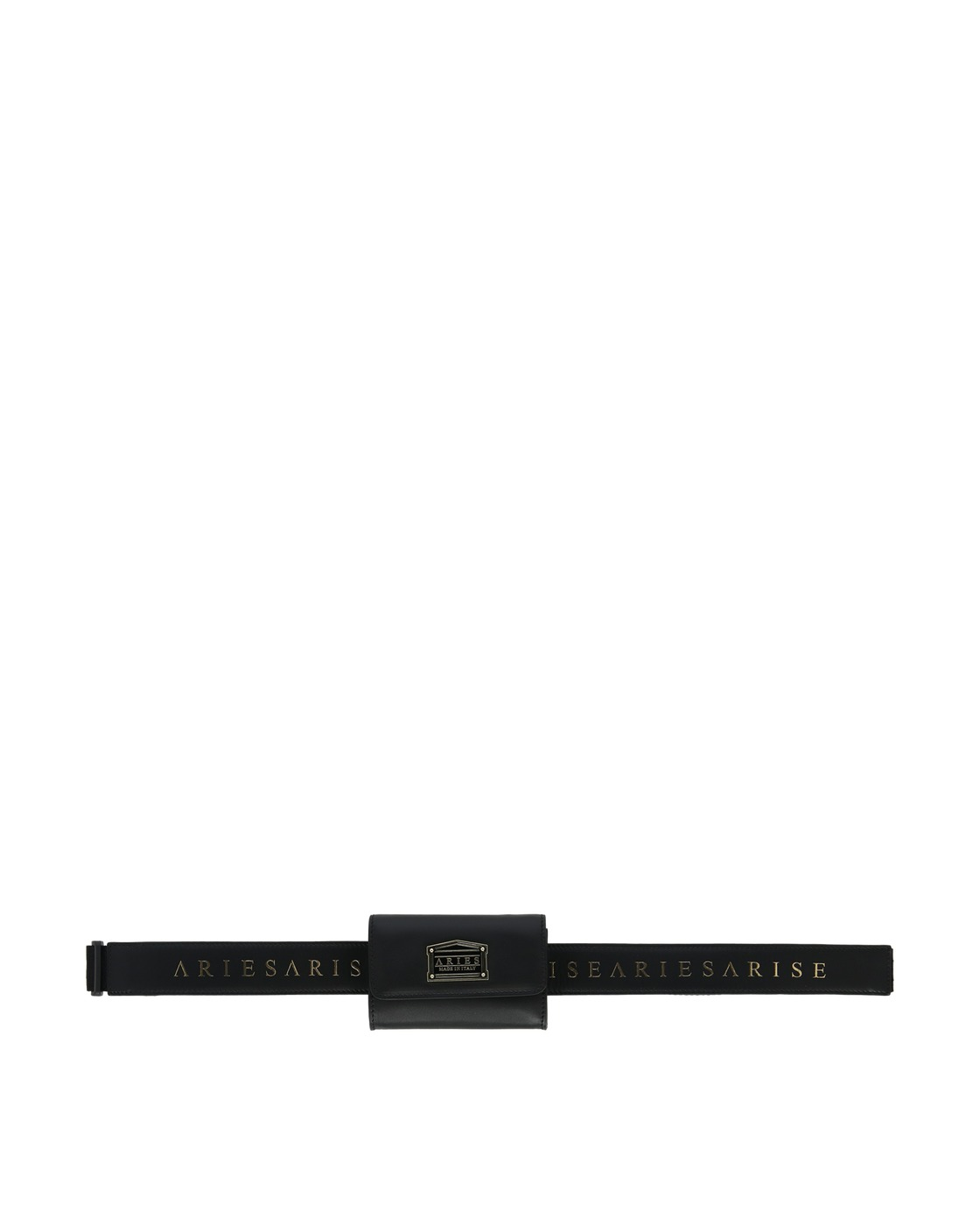 Aries Leather Coin Belt Bag Black