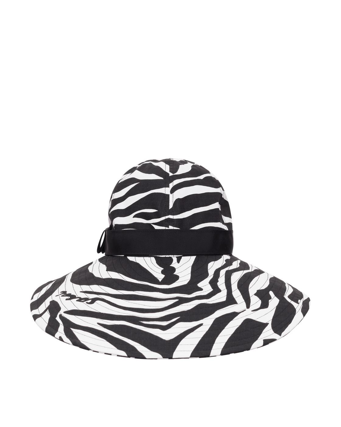 Photo: Sacai Zebra Print Hat White×Black