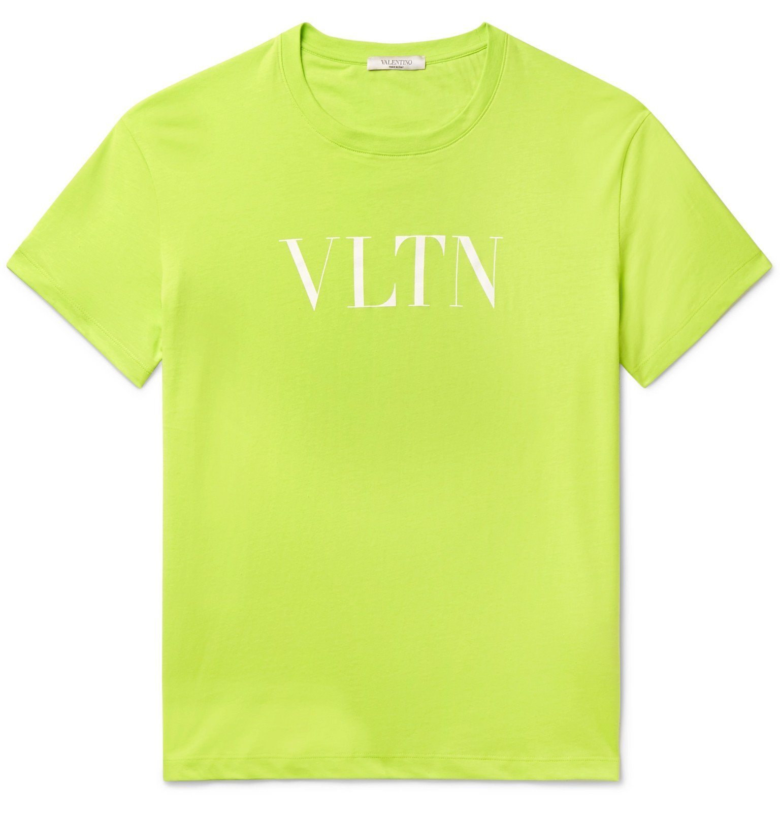Photo: Valentino - Logo-Print Cotton-Jersey T-Shirt - Green