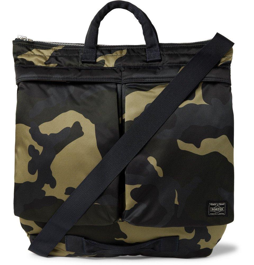 Photo: Porter-Yoshida & Co - Counter Shade Camouflage-Print Nylon Tote Bag - Green