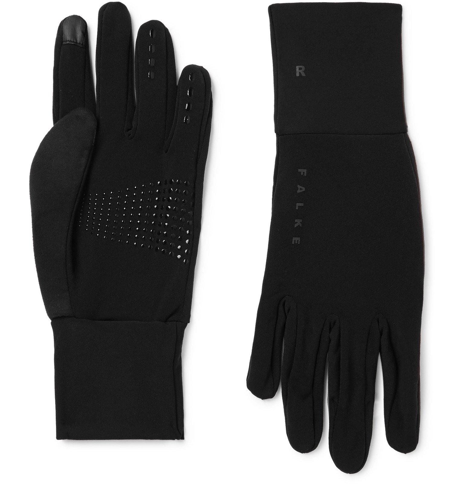 Photo: FALKE Ergonomic Sport System - Brushed Stretch-Jersey Gloves - Black