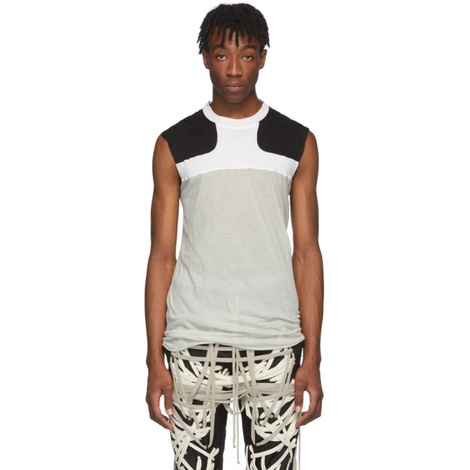 Photo: Rick Owens Off-White and Black Release Combo Lupetto Tank Top