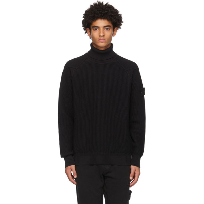 Photo: Stone Island Black Raglan Roll Turtleneck