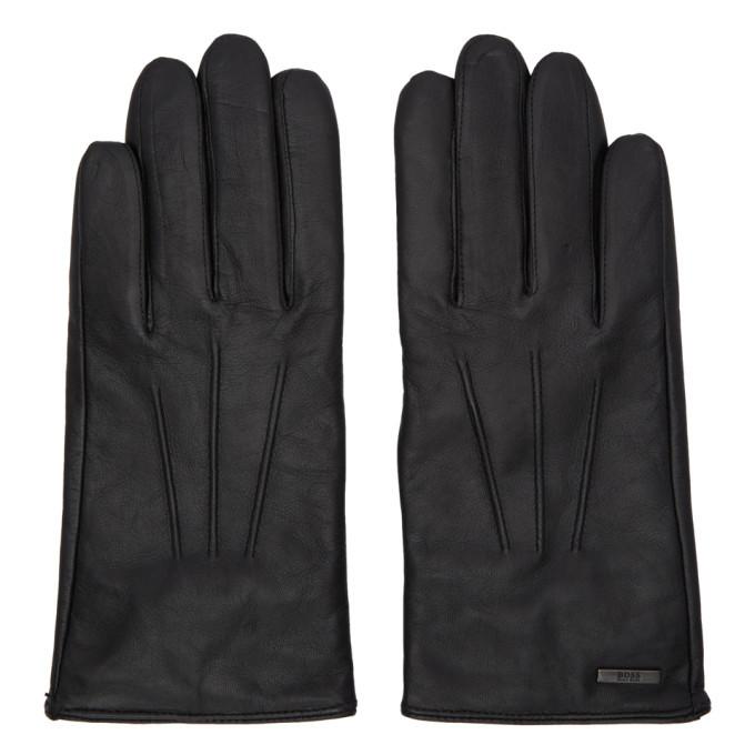 Photo: Boss Black Leather Hainz Gloves