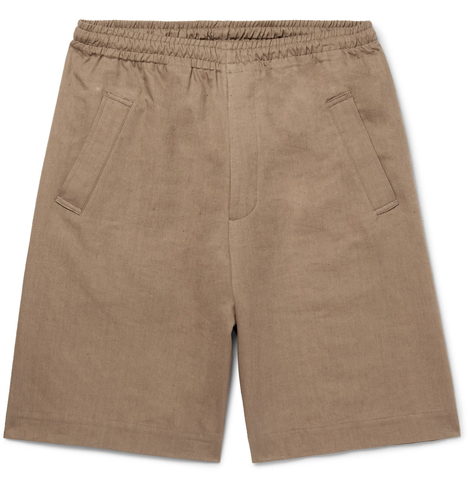 Margaret Howell - Linen and Cotton-Blend Twill Drawstring Shorts - Neutrals