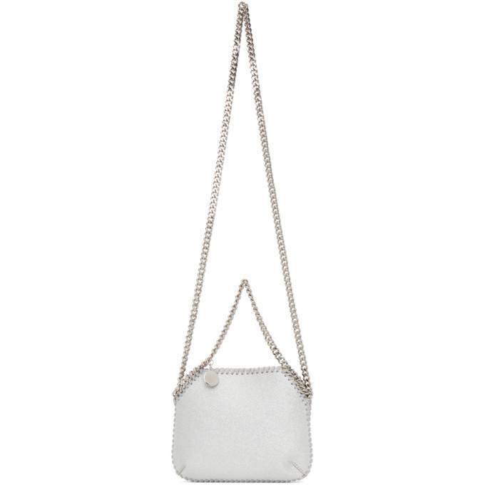 Stella McCartney Silver Mini Falabella Shoulder Bag