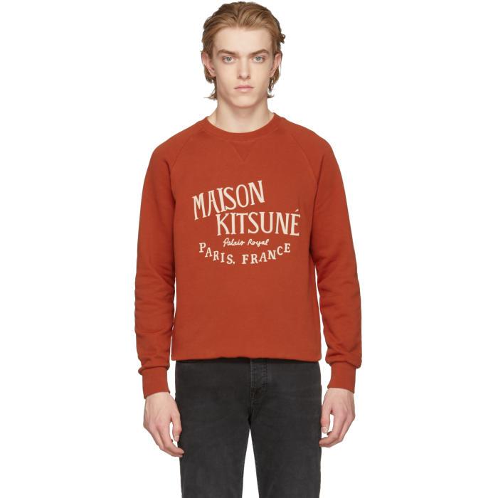 Photo: Maison Kitsuné Orange Palais Royal Sweatshirt