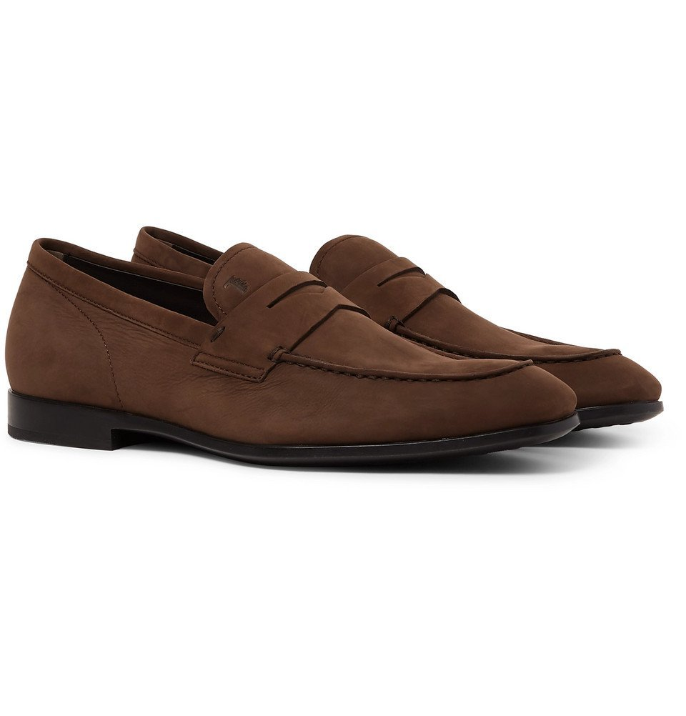 Tod's - Nubuck Penny Loafers - Men - Brown