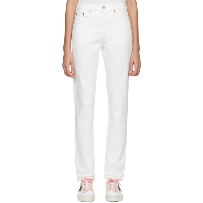 a66fdc5a Levis White 501 Stretch Skinny Jeans Levis