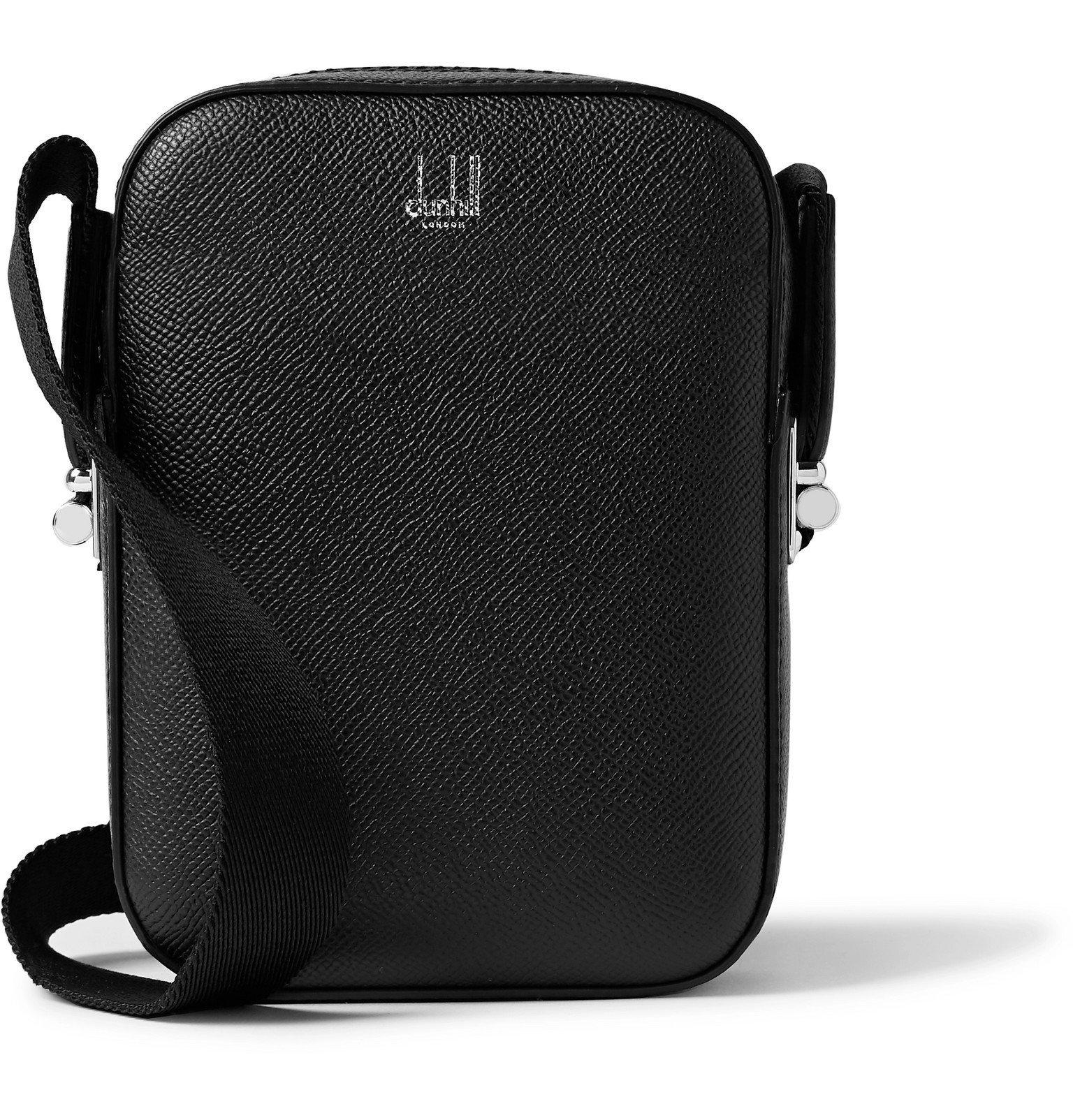Dunhill - Cadogan Pebble-Grain Leather Messenger Bag - Black