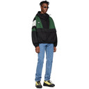 NAPA by Martine Rose Black and Green A-Huez Pullover Jacket