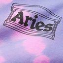 ARIES - Logo-Print Tie-Dyed Fleece-Back Cotton-Jersey Sweatshirt - Purple - XS