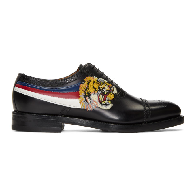 Photo: Gucci Black Tiger Appeal Brogues