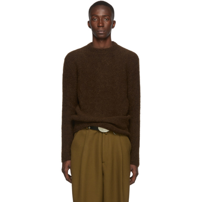 Photo: Lemaire Brown Alpaca Brushed Hairy Sweater