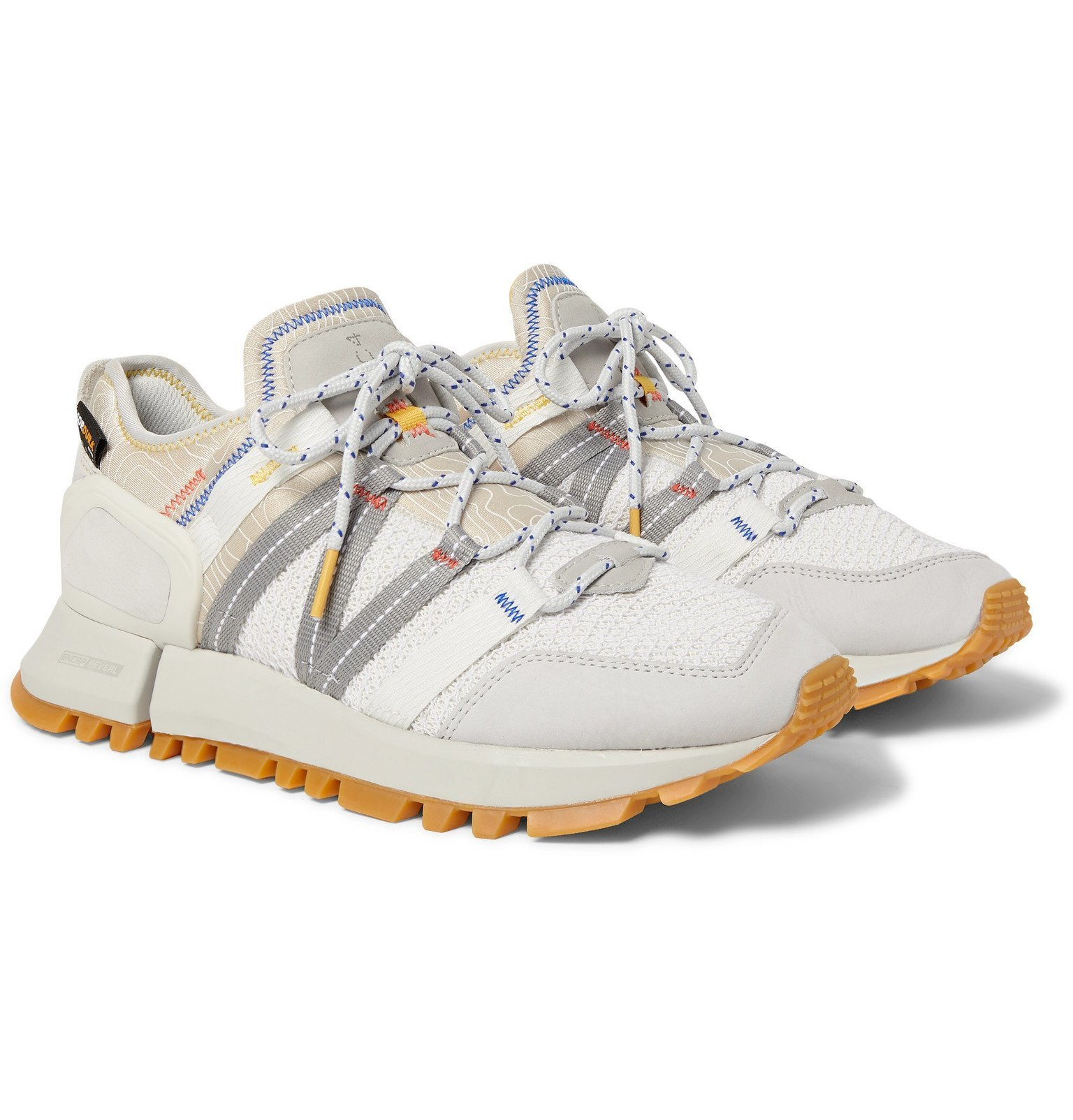 Photo: New Balance - R_C4 Webbing and Nubuck-Trimmed CORDURA Tracefiber and Mesh Sneakers - White