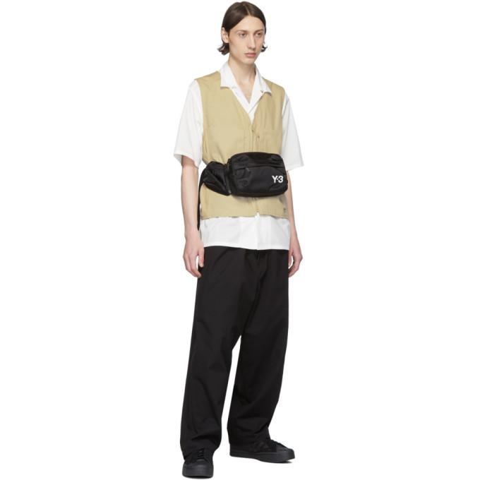 Y-3 Black Canvas Workwear Cargo Pants