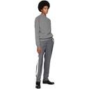 Sunspel Grey Lambswool Funnel Neck Sweater