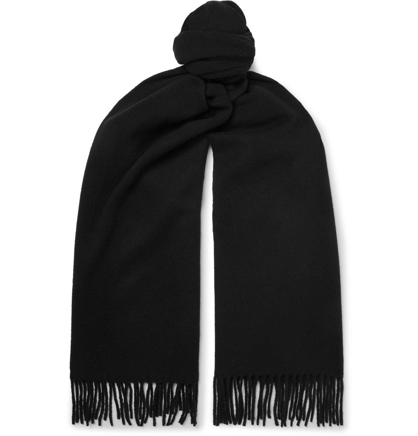 Photo: Acne Studios - Fringed Wool Scarf - Black