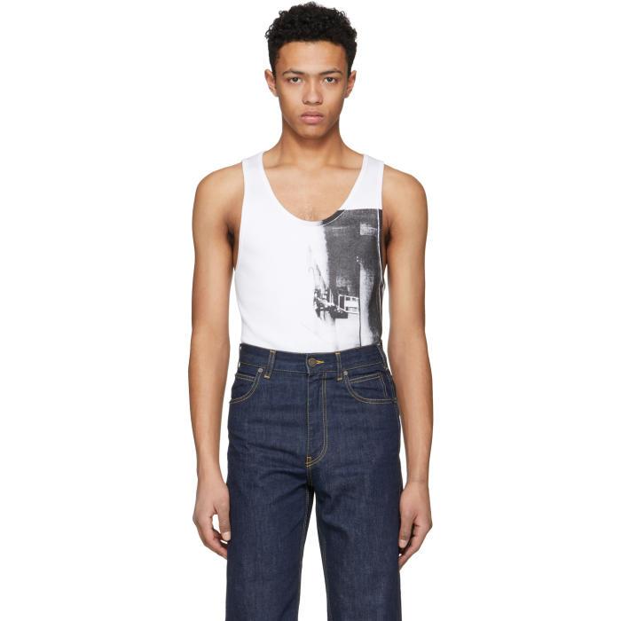 Photo: Calvin Klein 205W39NYC White Printed Tank Top