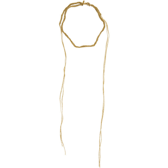 Photo: Acne Studios Gold Braided Necklace