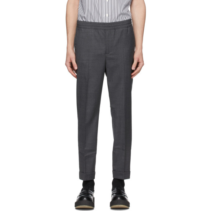 Photo: Neil Barrett Grey Gabardine Travel Cuffed Trousers