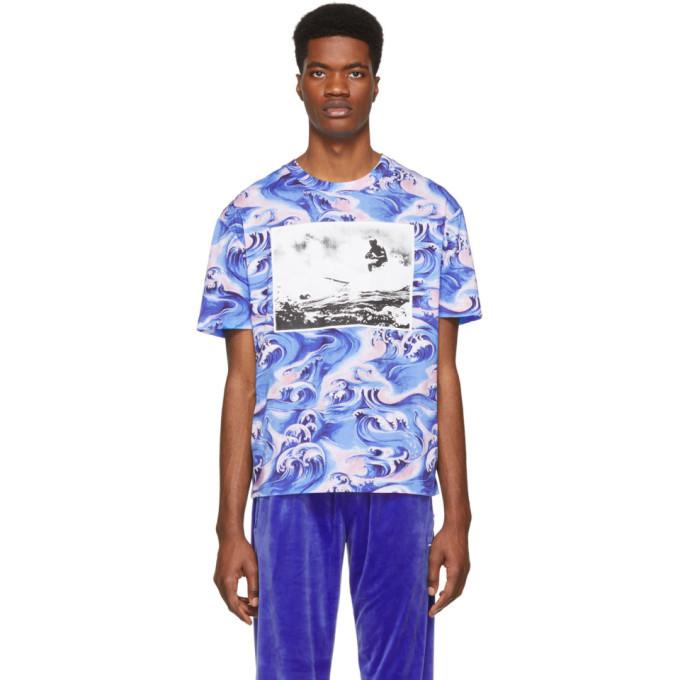 Photo: McQ Alexander McQueen Blue Waves T-Shirt