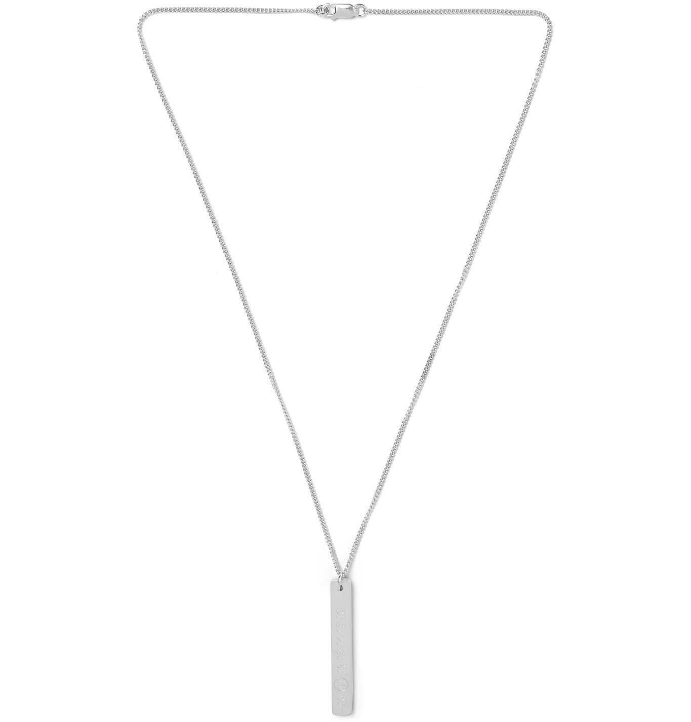 Photo: Maison Margiela - Sterling Silver Necklace - Silver