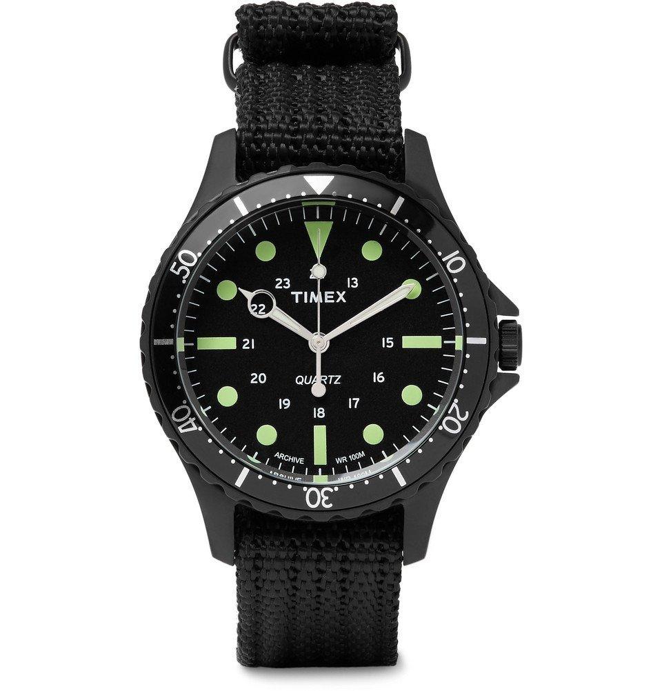 Photo: Timex - Navi Harbor Stainless Steel and Nylon-Webbing Watch - Men - Black