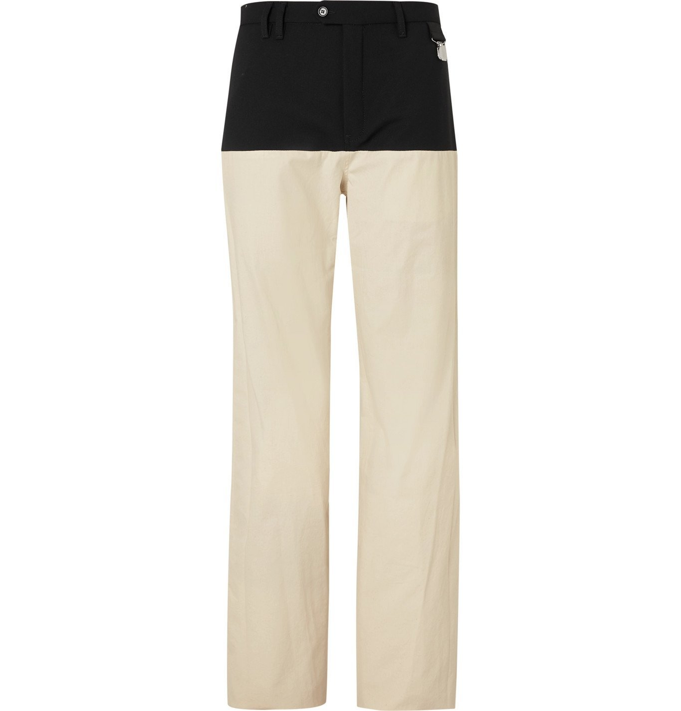 Raf Simons - Wool Twill-Panelled Cotton Trousers - Neutrals