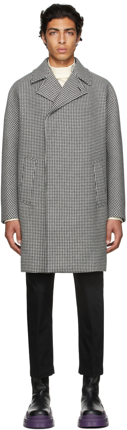 Photo: Dunhill Black & White Houndstooth Coat
